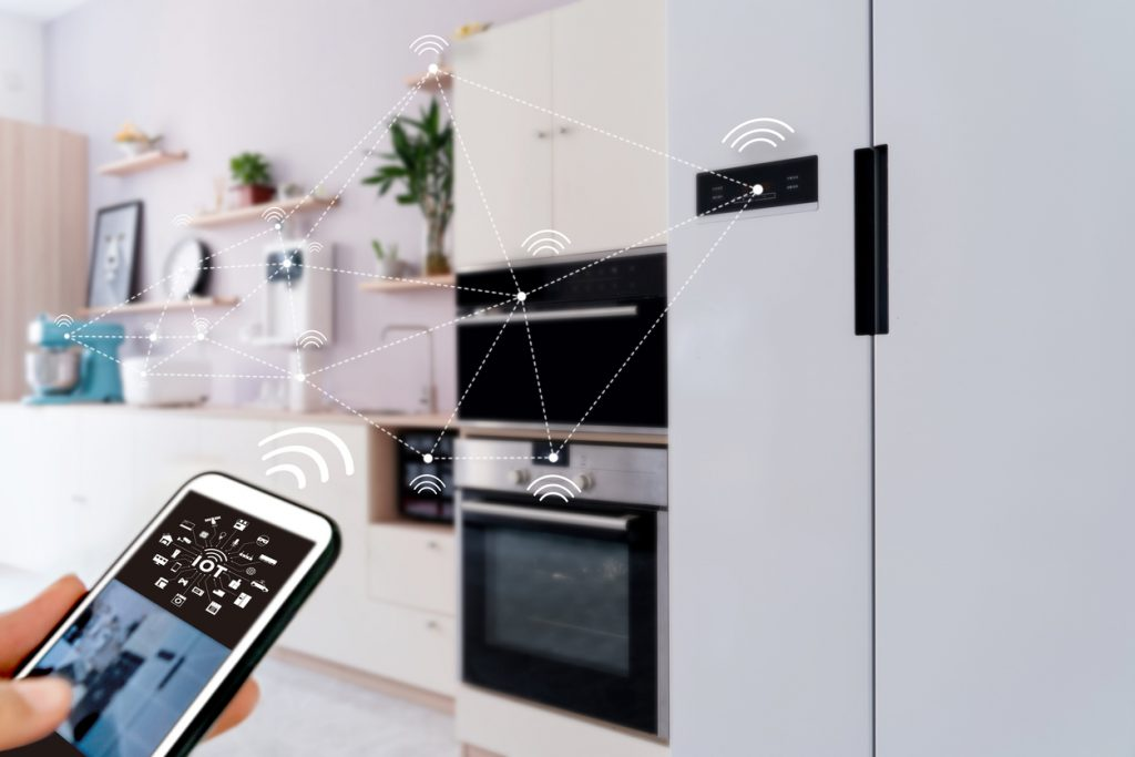 smart home, operating system concept of future.