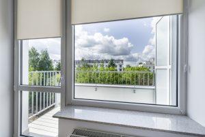 Window in small, economic room