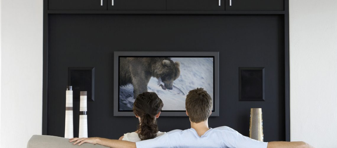 Couple Watching Nature Documentary on Television